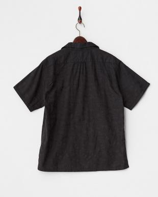 BK  迷彩ジャガード半袖開襟シャツ見る