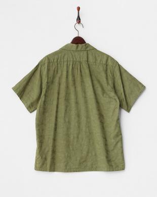 OL  迷彩ジャガード半袖開襟シャツ見る