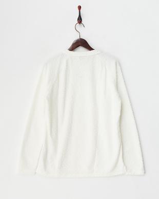 ホワイト  ジャカードラグランTシャツ見る