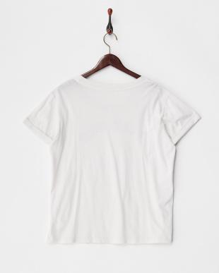 ホワイト  スーピマコットンTシャツ見る