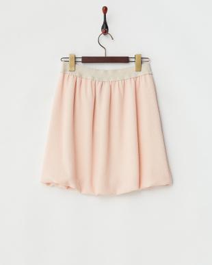 ライトピンク チリメン調バルーンスカート見る