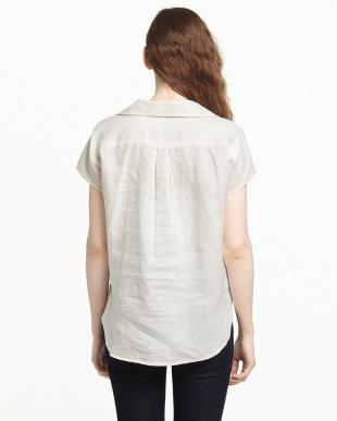 ホワイト  FRENCH LINENプルオーバーシャツ見る
