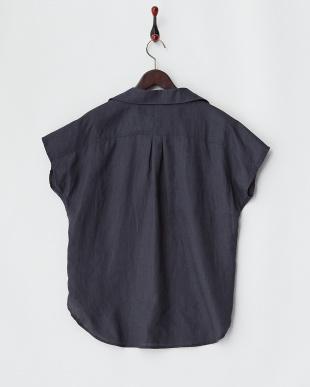 ネイビー  FRENCH LINENプルオーバーシャツ見る