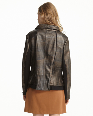 ブロンズ 異素材切り替えジャケット見る