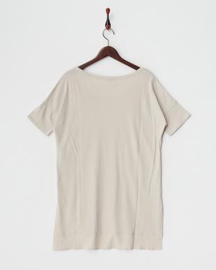 ベージュ ハイゲージスウェットロングTシャツ見る