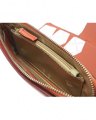 ORANGE  コニャックライン L字ファスナー&ホックボタン式 長財布|UNISEX見る