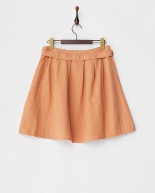 オレンジ ソフトカルゼフレアスカート見る