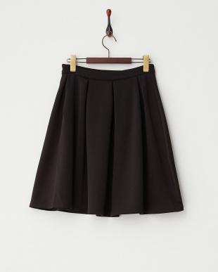 ブラック  ボンディングフレアスカート見る