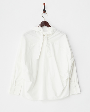 ホワイト  後リボンBIGシャツ見る