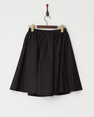 ブラック  コットンフレアスカート見る