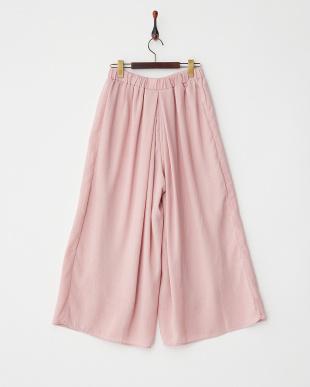 ピンク  センタータックワイドパンツ見る