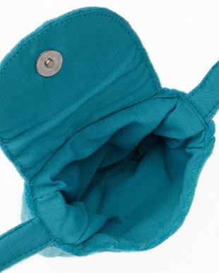 BLUE MID NUANCE-5 刺繍フェルトショルダーバッグ見る