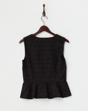 BLACK MID  JACQUARD SLEEVELESS BLOUSE見る