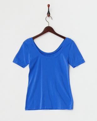 BLUE MID  クルーネックショートスリーブストレッチTシャツ見る