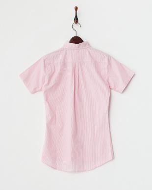 PINK MID  ボタンダウン半袖シャツ見る