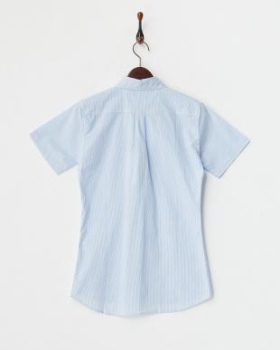 BLUE LT  ボタンダウン半袖シャツ見る