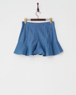 BLUE MID  裾フリルショートパンツ見る