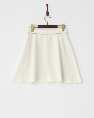 WHITE LT  フレアミニスカート見る