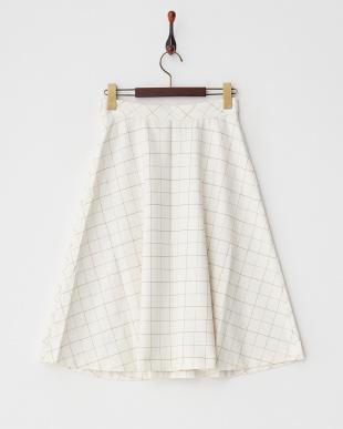 WHITE LT チェック柄スカート見る
