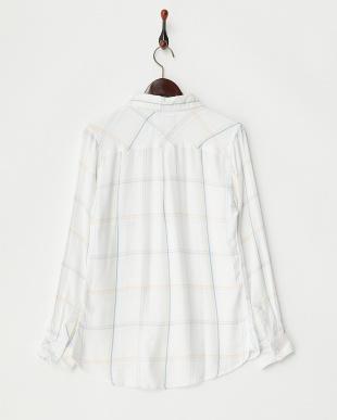 WHITE LT  レーヨンチェックシャツ見る