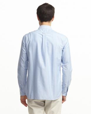 ブルー somelos Dry OX ボタンダウンシャツ見る