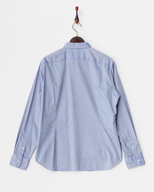 ブルー Basic B.D ボタンダウンシャツ見る