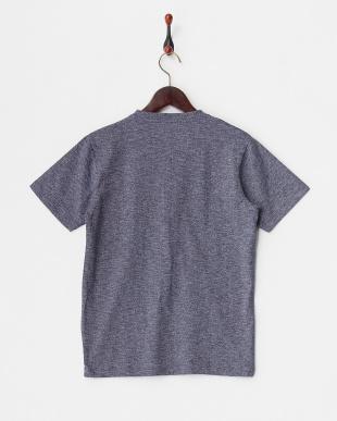 ネイビー  パラシュートVヘンリー 杢調Tシャツ見る