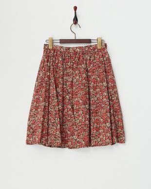 レッド リバティタックギャザースカート見る