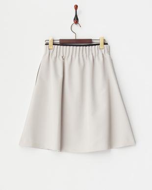 シルバーグレー ライトグログランWゴムスカート見る