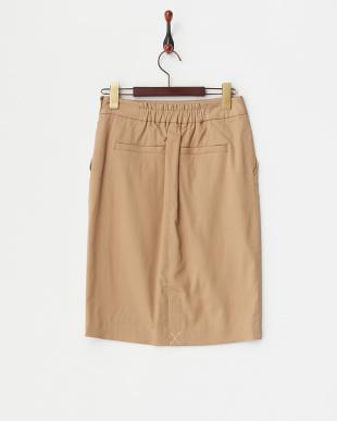 キャメル  ドビーオックスタイトスカート見る