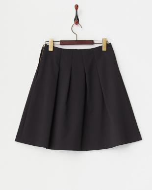 ブラック  綾フレアスカート見る