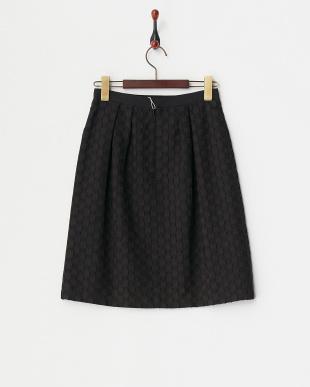 ブラック  インポートカットジャガードスカート 見る