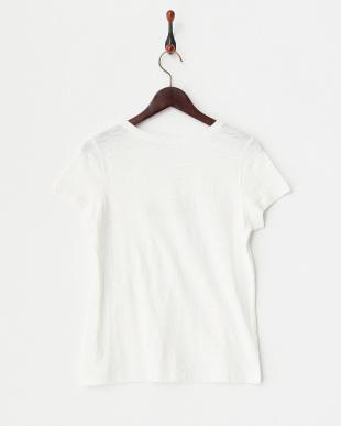 ホワイト fleurs フロッキーTシャツ見る