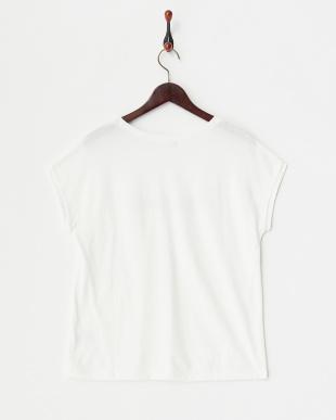 ホワイト(fevrier)  フロッキーTシャツ 見る