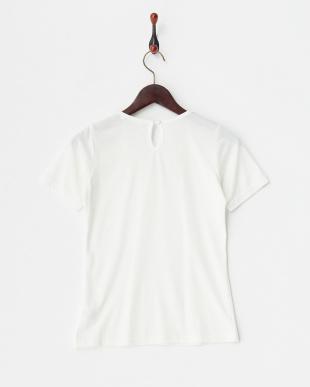 ホワイト 三角パール付きTシャツ見る