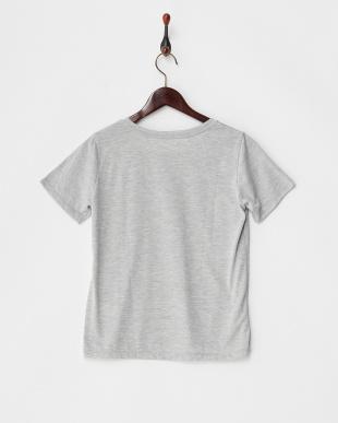 グレー  カットソー・プリント半袖Tシャツ見る