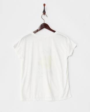 オフ  カットソー・プリント半袖Tシャツ フロントラウンドヘム見る