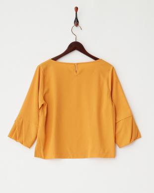 オレンジ  袖デザインタックサテンジョーゼットBL見る