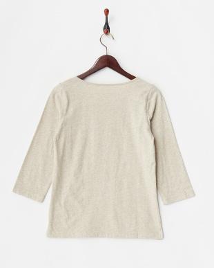 ベージュ  抗菌加工無地7分袖Tシャツ見る