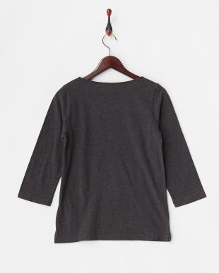 チャコール  抗菌加工無地7分袖Tシャツ見る