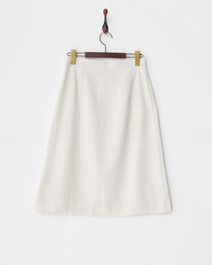 Ivory  ペールトーンタックミディスカート見る