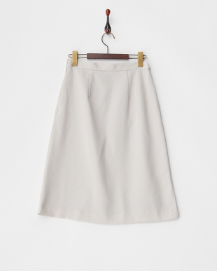 Gray Beige  ペールトーンタックミディスカート見る
