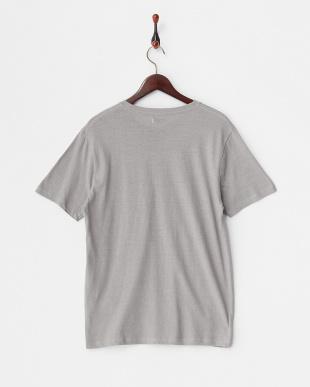 Gray  綿麻クルーネックポケットTシャツ見る