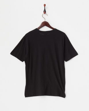 Black  綿麻クルーネックポケットTシャツ見る