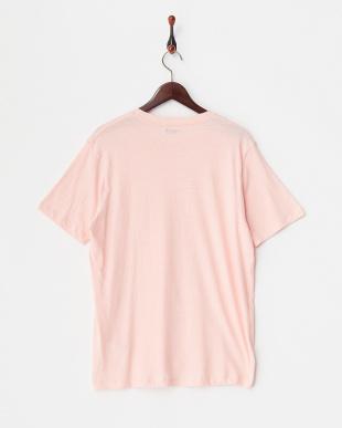 Pink  綿麻クルーネックポケットTシャツ見る