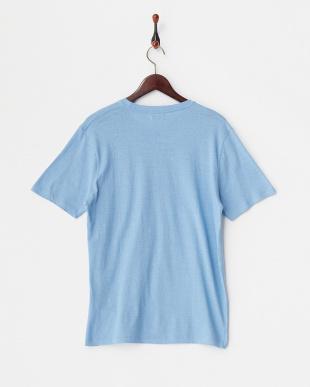 Sax  綿麻クルーネックポケットTシャツ見る