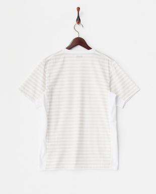 Off White  裏ボーダープリントTシャツ見る