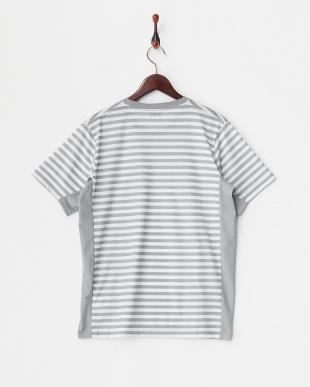 Light Gray  裏ボーダープリントTシャツ見る