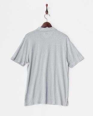 Gray  リネン混ポロシャツ見る