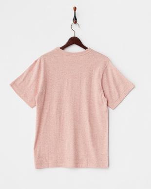 レッド  メランジクルーポケットTシャツ見る